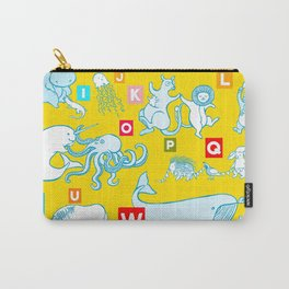 Yellow Alphabet Carry-All Pouch