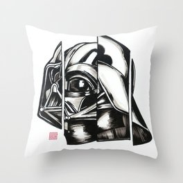 Darth Vader Deconstructed Throw Pillow