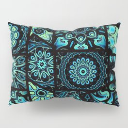 Patchwork in Blues Pillow Sham