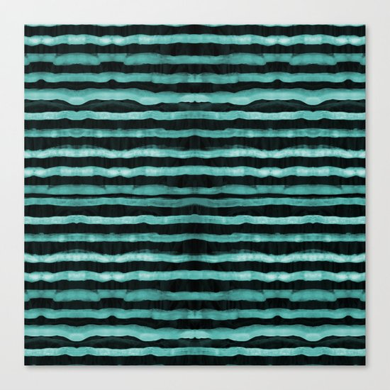 Neon stripes Canvas Print