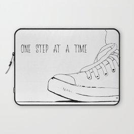 one step at a time Laptop Sleeve