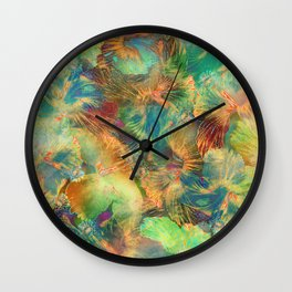 Hibiscus Trumpets #1 Wall Clock