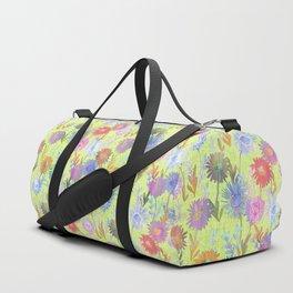Gillian Floral Lime Duffle Bag