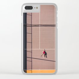 Tennis Court Clear iPhone Case