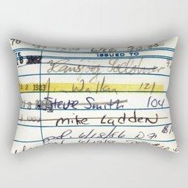 Library Card 5478 The New Atlantis Rectangular Pillow
