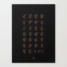 UZ WOODBLOCK Canvas Print