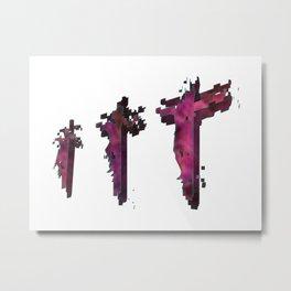 Three Crosses at Golgotha Metal Print