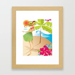 Hula Girl Framed Art Print