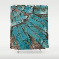 pagan Shower Curtains featuring The Ancients by brenda erickson