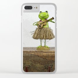 Travelin' Frog Clear iPhone Case