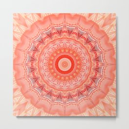 Mandala soft orange 3 Metal Print