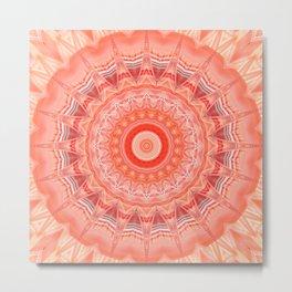 Mandala soft orange 3 Metal Print
