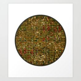 Grunge Wall Of Gold One Art Print