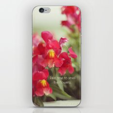 Take Time to Smell the Flowers iPhone & iPod Skin