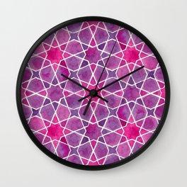 Watercolor - Islamic Geometry Wall Clock