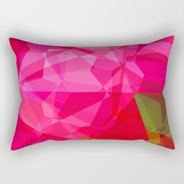 Pink Roses in Anzures 1 Abstract Polygons 3 Rectangular Pillow