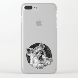 Yorkie Yawning Clear iPhone Case