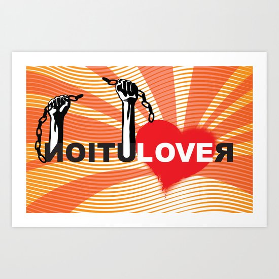Love Revolution Art Print