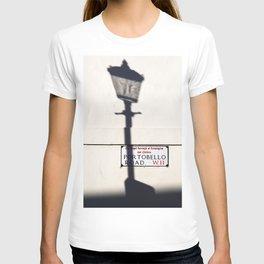 Portobello Road Sign, London, England T-shirt