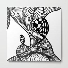 Zentangle #23 Metal Print