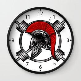 spartan fitness Wall Clock