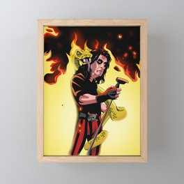 Alice On Fire Framed Mini Art Print
