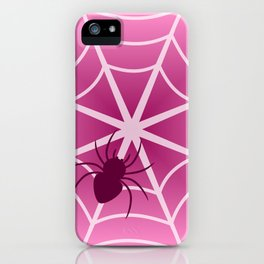 Spider web in pink iPhone Case