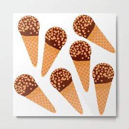 Ice Cream Drumstick Metal Print