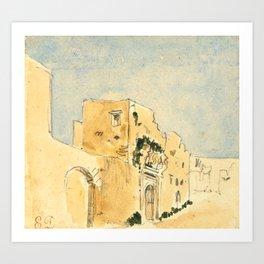 "Eugène Delacroix ""A Moroccan building"" Art Print"