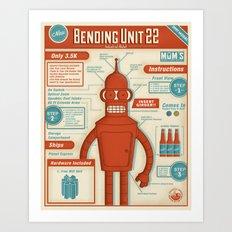 Bending Unit 22 Art Print