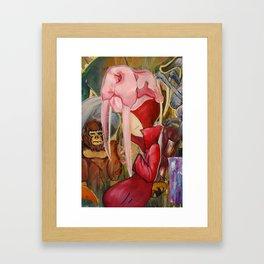 Red Shadow Framed Art Print
