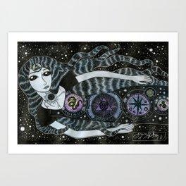 Strange Star Girl Art Print