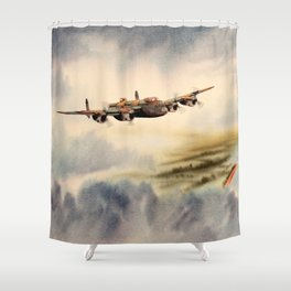 Avro Lancaster Aircraft Shower Curtain