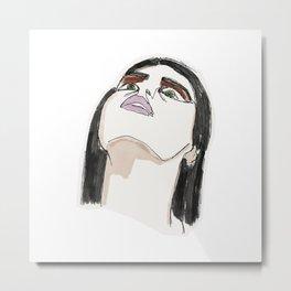 Ashtray girl Metal Print