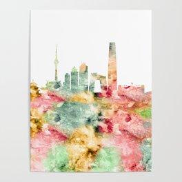 Beijing City Skyline China Poster