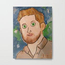 Jensen Ackles Picasso Metal Print