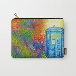 Inconspicuous Blue Police Box (Not a Tardis) Carry-All Pouch