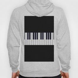 Piano Keys - Black and white simple piano keys pattern minimalistic music themed artwork Hoody