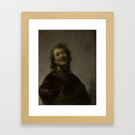 Rembrandt Laughing Framed Art Print