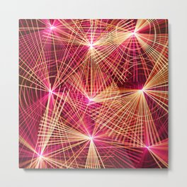 Raspberry Supernovae Geometric Abstract Metal Print