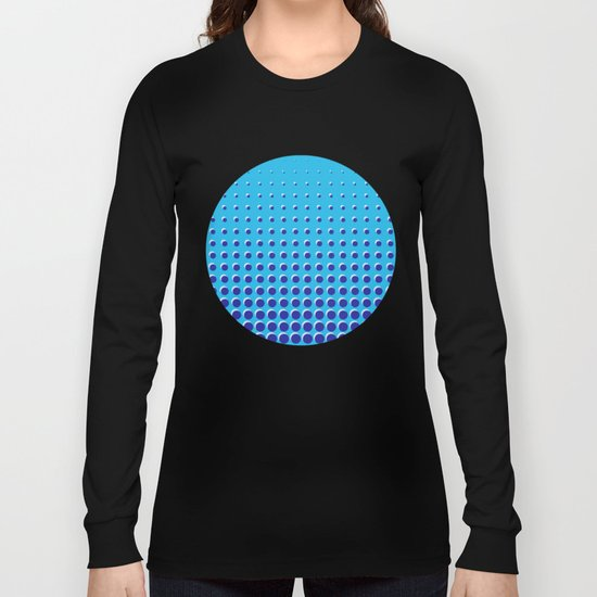 Blue on blue grid - Optical game 14 Long Sleeve T-shirt