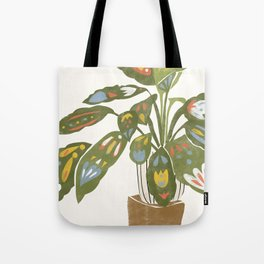 Scandinavian Plant Tote Bag