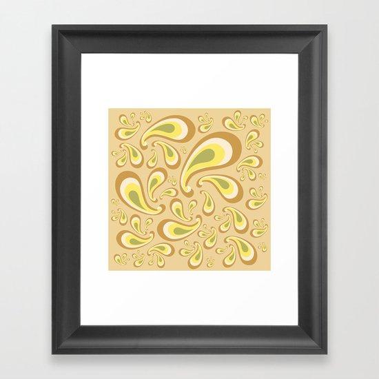 decorative drops Framed Art Print