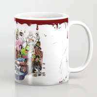 horror Mugs featuring the horror....THE HORROR by poopsmoothie