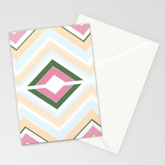 Mod stripes in Sorbet Stationery Cards