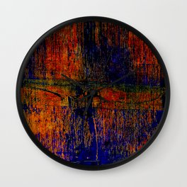 Simon Carter Painting Scorched Blossom Wall Clock