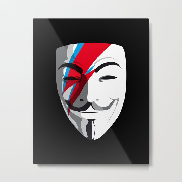Who wants to be Anonymous? Let's be Fabulous! Viggy Starfawkes. Metal Print