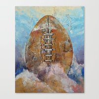 football Canvas Prints featuring Football by Michael Creese