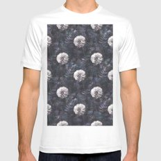 Dandelions - A Pattern Mens Fitted Tee MEDIUM White
