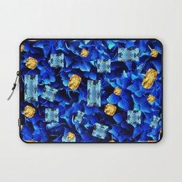 SEPTEMBER BLUE & CHAMPAGNE TOPAZ GEMS BIRTHSTONE ART Laptop Sleeve